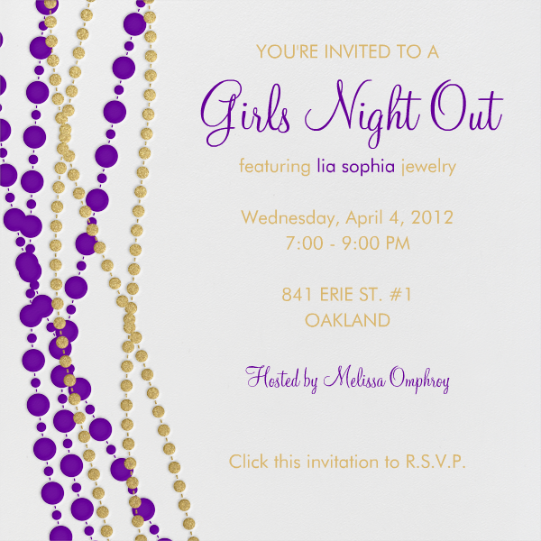 jewelry party invitation template Success